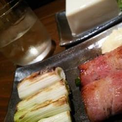 おいらの定番の3点セット(串焼き&串揚げ居酒屋 でん、高岡市)