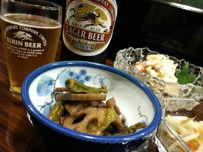 「晩酌セット」(^^@居酒屋 三紅貝(高岡市)